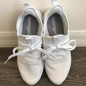 Adidas White Cloudfoam Pure running shoes